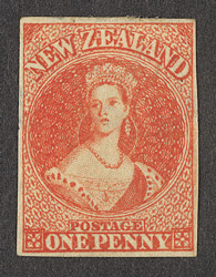 New Zealand: 1862 (February to December) 1d orange vermillion, unused.